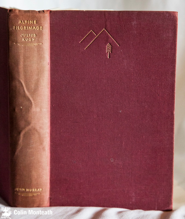 ALPINE PILGRIMAGE, Julius Kugy, John Murray, London, 1934 1st edn.,367 page hardback in original red cloth, sl soiled, B&W plates, fold-out map in rear, Julius Kugy's pioneering climbs in the Julian Alps - $NZ35
