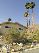House at the edge of town last house before the desert starts. Palm Springs USA.