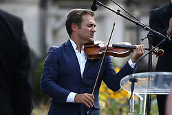 Renaud Capucon attending the funeral ceremony of French designer Sonia Rykiel at the Montparnasse cemetery in Paris, France on September 1, 2016. The 86 years old pioneer of Parisian womenswear from the late 1960's onwards, has died from a Parkinson's disease-related illness. Photo by ABACAPRESS.COM