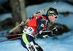 DESTHIEUX Simon (FRA) competes during Men 12,5 km Pursuit at day 3 of IBU Biathlon World Cup 2014/2015 Pokljuka, on December 20, 2014 in Rudno polje, Pokljuka, Slovenia. Photo by Vid Ponikvar / Sportida