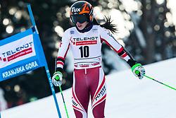 Stephanie Brunner (AUT) during Ladies' Giant Slalom at 57th Golden Fox event at Audi FIS Ski World Cup 2020/21, on January 17, 2021 in Podkoren, Kranjska Gora, Slovenia. Photo by Vid Ponikvar / Sportida
