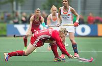 AMSTERDAM - Hockey - Kate Richardson-Walsh (GB) .  Interland tussen de vrouwen van Nederland en Groot-Brittannië, in de Rabo Super Serie 2016 .  COPYRIGHT KOEN SUYK