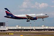 VP-BZQ Aeroflot Airbus A320-214 Photographed at Malpensa airport, Milan, Italy