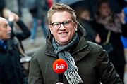 Nieuwjaarsontvangst voor Nederlandse genodigden op het Koninklijk Paleis op de Dam.<br /> <br /> op de foto:  Jair Ferwerda