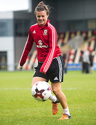 NEWPORT, WALES - Monday, September 19, 2016: Wales' Hayley Ladd warms up ahead of the UEFA Women's Euro 2017 Qualifying Group 8 match at Rodney Parade. (Pic by Laura Malkin/Propaganda)