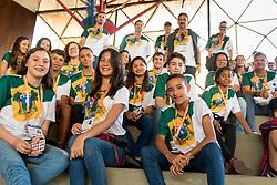 September 12, 2017 - Parte da delegação do Rio Grande do Norte presente na abertura dos Jogos Escolares da Juventude 2017 realizada no Ginásio do Circulo Militar em Curitiba, PR. (Credit Image: © Reinaldo Reginato/Fotoarena via ZUMA Press)