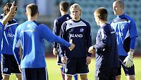 Fotball<br /> Trening Island<br /> Nadderud Stadion<br /> 30.08.2011<br /> Foto: Morten Olsen, Digitalsport<br /> <br /> Birkir Bjarnason (dark blue)
