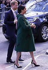 Prince Harry & Meghan The Duchess Of Sussex arrive at Canada House in London - 11 March 2019