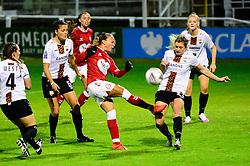 Ebony Salmon of Bristol City Women takes a shot at goal - Mandatory by-line: Dougie Allward/JMP - 07/10/2020 - FOOTBALL - Twerton Park - Bath, England - Bristol City Women v London Bees - FA Continental Cup