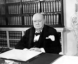 Nov. 2, 1953 - London, England, U.K. - The greatest of all Britain's war leaders, WINSTON CHURCHILL was uniquely stirred by the challenge of war and found his fulfillment in leading the democracies to victory. It was to prove more important that as a democrat, he was disgusted by the rise of totalitarian systems in Europe. PICTURED: Churchill in his office at Downing Street No.10. (Credit Image: © Keystone Press Agency/Keystone USA via ZUMAPRESS.com)