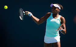March 22, 2019 - Miami, FLORIDA, USA - Cori Gauff of the United States in action during the second-round at the 2019 Miami Open WTA Premier Mandatory tennis tournament (Credit Image: © AFP7 via ZUMA Wire)