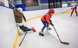 07-04-2017 NED: IJshockeyclinic Bosman vs BvdGF, Alkmaar<br /> 14 kinderen waarvan 8 met diabetes kregen een fantastische ijshockeyclinic aangeboden.