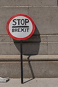 A stop Brexit placard on the 23rd July 2019 in London in the United Kingdom.