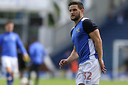Craig Conway of Blackburn Rovers warms up before the EFL Sky Bet Championship match between Blackburn Rovers and Burton Albion at Ewood Park, Blackburn, England on 20 August 2016. Photo by Simon Brady.