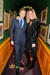 FLETCHER COWAN and ANNABEL SIMPSON at the 2nd Bright Young Things Back In London party held at Annabel's, 44 Berkeley Square, London on 11th February 2016.