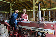 An engagement photo session with Heather and Andrew, Friday, April 4, 2019, at his family's farm on Cedar Grove Road near Shepherdsville, Ky. (Photo by Brian Bohannon)