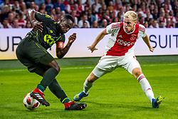 14-08-2018 NED: Champions League AFC Ajax - Standard de Liege, Amsterdam<br /> Third Qualifying Round,  3-0 victory Ajax during the UEFA Champions League match between Ajax v Standard Luik at the Johan Cruijff Arena / Donny van de Beek #6 of Ajax