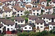 Housing in coastal town of Teignmouth, Devon, UK
