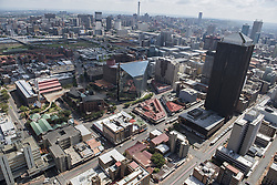JOHANNESBURG, SOUTH AFRICA - NOVEMBER 20: An aerial view shows Johannesburg business district in Johannesburg, South Africa on November 20, 2016. Shiraaz Mohamed / Anadolu Agency    BRAA20161120_621 Johannesburg Afrique du Sud South Africa