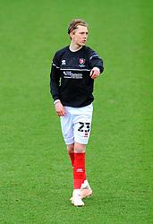 Callum Wright of Cheltenham Town gestures- Mandatory by-line: Nizaam Jones/JMP - 20/02/2021 - FOOTBALL - Jonny-Rocks Stadium - Cheltenham, England - Cheltenham Town v Bradford City - Sky Bet League Two