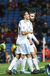January 10, 2018 - Madrid, Madrid, Spain - Lucas Vazquez (midfielder; Real Madrid), Daniel Carvajal (defender; Real Madrid) during Copa del Rey match between Real Madrid and Numancia, Round 8 match, at Santiago Bernabeu on January 10, 2018 in Madrid (Credit Image: © Jack Abuin via ZUMA Wire)