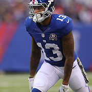 Odell Beckham Jr, New York Giants  in action during the New York Giants V San Francisco 49ers, NFL American Football match at MetLife Stadium, East Rutherford, NJ, USA. 16th November 2014. Photo Tim Clayton