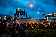 Protesters wear black and gather in the streets from Victoria Park to Central to protest against the extradition bill, and police use of force during a recent riot, and demand for Chief Executive Carrie Lam's resignation, besides other concerns, in Hong Kong on July 1st, 2019. Photo by Suzanne Lee/PANOS