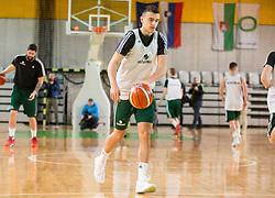 Zan Mark SIsko during Practice session of Slovenian National basketball team before FIBA Basketball World Cup China 2019 Qualifications against Belarus, on November 20, 2017 in Arena Stozice, Ljubljana, Slovenia. Photo by Vid Ponikvar / Sportida