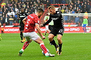 Samuel Saiz (21) of Leeds United on the attack during the EFL Sky Bet Championship match between Bristol City and Leeds United at Ashton Gate, Bristol, England on 21 October 2017. Photo by Graham Hunt.
