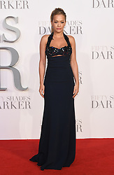 Rita Ora arriving for the Fifty Shades Darker European Premiere held at Odeon Leicester Square, London. Picture date: Thursday February 9, 2016. Photo credit should read: Doug Peters/ EMPICS Entertainment