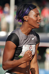 Olympic Trials Eugene 2012: women's 100 meter hurdles, Kellie Wells reacts to making Olympic team
