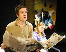Mile End<br /> at Southwark Playhouse, London, Great Britain<br /> press photocall<br /> 4th February 2008<br /> <br /> <br /> Sam Taylor (as Alex) ; Hannah Barker (as Kate) ; Liam Jarvis (as Michael)<br /> <br /> Photograph by Elliott Franks