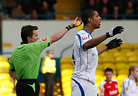 Photo: Steve Bond/Richard Lane Photography. Leeds United v Swindon Town. Coca Cola League One. 14/03/2009. Jermaine Beckford is sent off by ref Keith Stroud