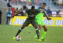 SANTA CLARA, USA - Saturday, July 30, 2016: Liverpool's Trent Alexander-Arnold in action against AC Milan's M'Baye Niang during the International Champions Cup 2016 game on day ten of the club's USA Pre-season Tour at the Levi's Stadium. (Pic by David Rawcliffe/Propaganda)