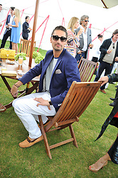 HUGO TAYLOR at the Cartier Queen's Cup Polo Final, Guards Polo Club, Windsor Great Park, Berkshire, on 17th June 2012.