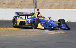 September 14, 2018 - Sonoma, CA, U.S. - SONOMA, CA - SEPTEMBER 14: Alexander Rossi works his way thru Turn 9A during the afternoon Verizon IndyCar Series practice for the Grand Prix of Sonoma on September 14, 2018, at Sonoma Raceway in Sonoma, CA. (Photo by Larry Placido/Icon Sportswire) (Credit Image: © Larry Placido/Icon SMI via ZUMA Press)