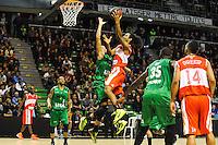 Yohann SANGARE / John Cox  - 29.12.2014 - Lyon Villeurbanne / Le Havre - 16e journee Pro A<br />Photo : Jean Paul Thomas / Icon Sport
