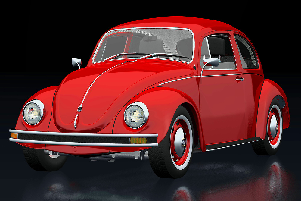 The 1972 Volkswagen Beetle Sedan has been sold all over the world. Ferdinand Porsche did not expect this when he designed his first Volkswagen. This 1972 Volkswagen Beetle Sedan is of course also featured in films, of which the Dolle Beetle is the most famous.<br /> The 1972 Volkswagen Beetle Sedan was for many their first car. Pure nostalgia.<br /> <br /> This painting of a 1972 Volkswagen Beetle Sedan can be printed very large on different materials. -<br /> <br /> BUY THIS PRINT AT<br /> <br /> FINE ART AMERICA<br /> ENGLISH<br /> https://janke.pixels.com/featured/volkswagen-beetle-three-quarter-view-jan-keteleer.html<br /> <br /> WADM / OH MY PRINTS<br /> DUTCH / FRENCH / GERMAN<br /> https://www.werkaandemuur.nl/nl/shopwerk/Volkswagen-Kever/742439/132?mediumId=11&size=75x50<br /> <br /> -