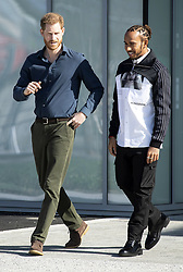The Duke of Sussex (left) and Lewis Hamilton attending the opening of The Silverstone Experience at Silverstone, Towcester. Picture credit should read: Doug Peters/EMPICS