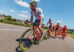 05.07.2017, Altheim, AUT, Ö-Tour, Österreich Radrundfahrt 2017, 3. Etappe von Wieselburg nach Altheim (226,2km), im Bild Manuel Belletti (ITA, Nationale Italiana) // Manuel Belletti (ITA, Nationale Italiana) during the 3rd stage from Wieselburg to Altheim (199,6km) of 2017 Tour of Austria. Altheim, Austria on 2017/07/05. EXPA Pictures © 2017, PhotoCredit: EXPA/ JFK
