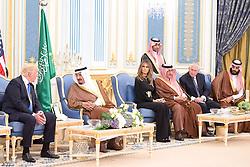 Saudi King Salman Bin Abdelaziz (or Abdul Aziz) Al Saud (2nd from L) receives US President Donald Trump and First Lady Melania in Riyadh, Saudi Arabia on May 20, 2017. This is the first US president's visit abroad. Photo by Balkis Press/ABACAPRESS.COM