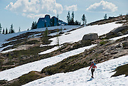 Pacific Crest Trail at Cutthroat Pass, North Cascades mountain range, Okanagon National Forest, Washington, USA.