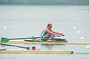 Tampere Kaukajaervi,  FINLAND.   Start of the Men's Lightweight Single Sculls, IRL LM1X Niall O'TOOLE<br />   competing at the 1995 World Rowing Championships - Lake Tampere, 08.1995<br /> <br /> [Mandatory Credit; Peter Spurrier/Intersport-images] Re-Edited and file ref No. updated, 16th January 2021.