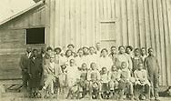 Maplesville, Ala., congregation after first service, Dec. 4, 1927