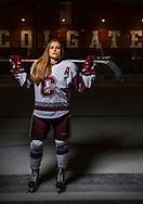 Photos by Mark DiOrio / Colgate University<br /> Portrait of Livia Altmann '19, Colgate Raiders defense hockey player, Apr. 28, 2017 in Hamilton, N.Y.
