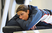 Caversham, Great Britain, Annie VERNON, relax's, at the Redgrave Pinsent Rowing Lake. GB Rowing Training centre. Wed. 20.04.2008  [Mandatory Credit. Peter Spurrier/Intersport Images] Rowing course: GB Rowing Training Complex, Redgrave Pinsent Lake, Caversham, Reading
