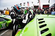 January 24-28, 2018. IMSA Weathertech Series ROLEX Daytona 24. 19 GRT Grasser Racing Team, Lamborghini Huracan GT3, Christopher Lenz, Max van Splunteren, Ezequiel Perez Companc, Louis Machiels