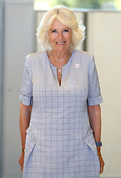 """The Duchess of Cornwall during a visit to Cornwall Air Ambulance Trust's base in Newquay to launch the new """"Duchess of Cornwall"""" helicopter, while on a three day visit to Cornwall with the The Prince of Wales."""