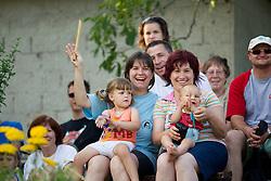 Gledalci na dobrodelni nogometni tekmi SD Bilje, katere izkupicek  je namenjen Zavodu Lu ter Fundaciji Vrabcek upanja, on June 22, 2012 in Bilje pri Novi Gorici, Slovenia. (Photo by Vid Ponikvar / Sportida.com)
