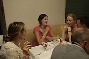 Bay garnett, Jade Parfitt and Jasmine Guinness, Natalia Vodianova and Elle Macpherson host a dinner in honor of Francisco Costa (creative Director for women) and Italo Zucchelli (creative director for men)  of Calvin Klein. Locanda Locatelli, 8 Seymour St. London W1. ONE TIME USE ONLY - DO NOT ARCHIVE  © Copyright Photograph by Dafydd Jones 66 Stockwell Park Rd. London SW9 0DA Tel 020 7733 0108 www.dafjones.com